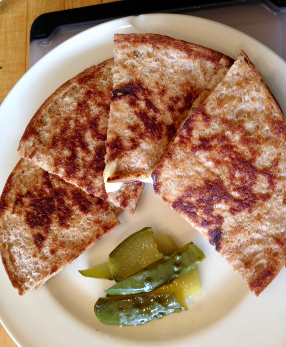 Pita Quesadilla with Dill Pickles