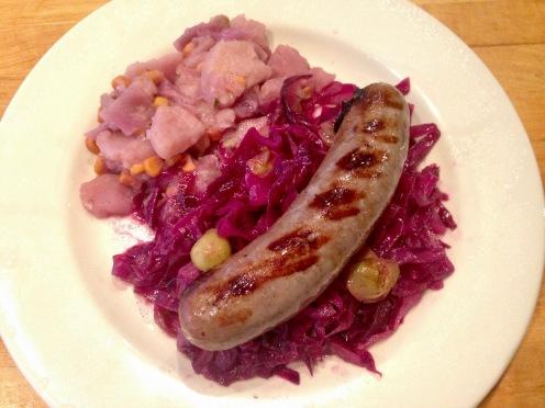 Cabbage and Grape Sauté